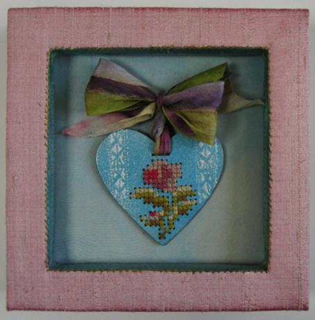 Kεντημένη καρδιά, πανσές (σκέψη) Janet Haig