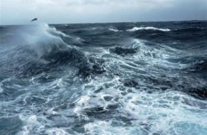 To κύμα καταγράφηκε από πλωτήρα στη διάρκεια τρικυμίας στον Βόρειο Ατλαντικό -εικόνα αρχείου