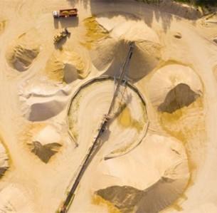 Ορυχείο άμμου: η άμμος και το χαλίκι είναι τα υλικά που εξορύσσονται περισσότερο στον πλανήτη