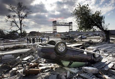 Η Νέα Ορλεάνη τον Οκτώβριο του 2005 μετά το πέρασμα του τυφώνα Κατρίνα  AP