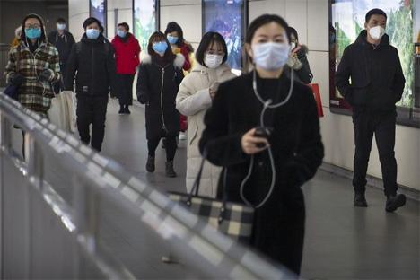 Σιδηροδρομικός σταθμός στο Πεκίνο.  AP