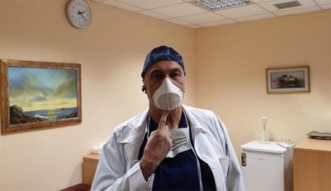 Ο διευθυντής της Γ' Χειρουργικής Κλινικής του ΑΧΕΠΑ, καθηγητής Ισαάκ Κεσίσογλου.  ΑΠΕ-ΜΠΕ