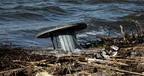 Φερτά υλικά από την καταστροφή στην Εύβοια που ξεβράστηκαν στο Δήλεσι EUROKINISSI / ΓΙΑΝΝΗΣ ΠΑΝΑΓΟΠΟΥΛΟΣ